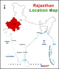 Rajasthan Location Map